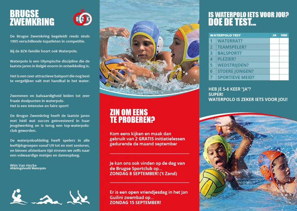 Brugse Zwemkring Folder Waterpolo