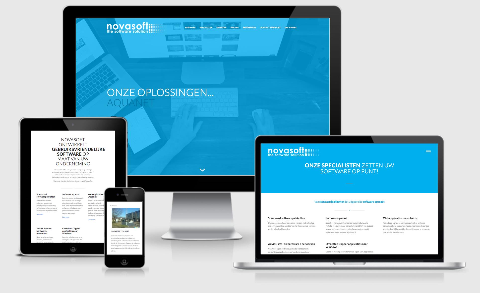 Webdesign website novasoft